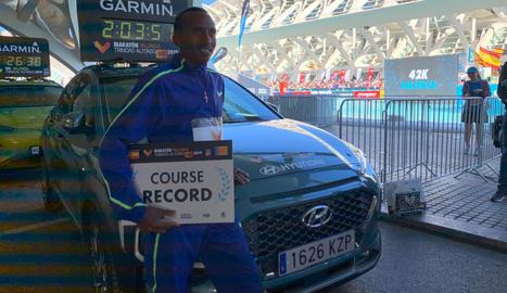 La Marató València Trinidad Alfonso EDP, s'ha situat com el sisè més ràpid del món gràcies a la marca aconseguida per l'atleta Kinde Atanaw Alayew.