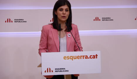 La portaveu d'ERC, Marta Vilalta.