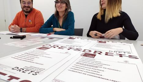 La presentació de l'Oficina de Drets Humans, ahir a Lleida.
