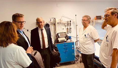 Visita de Joan Talarn a l'Espitau de Vielha la setmana passada.