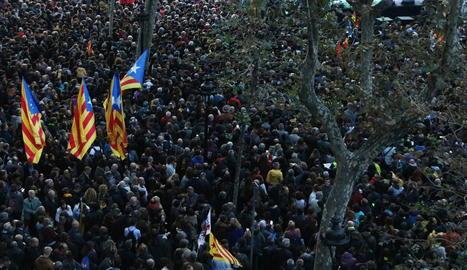 Una concentració convocada per Tsunami Democràtic el passat 9 de novembre a Barcelona.