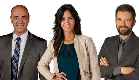 Tomàs Molina, Maria Fernández i Toni Cruanyes, l'equip de TV3.
