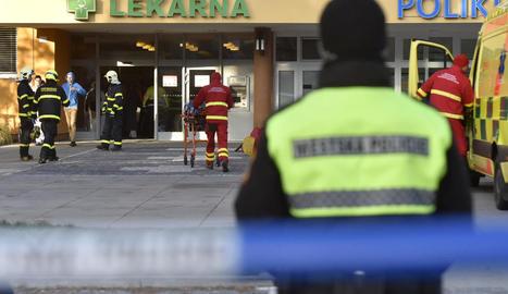 Imatge de l'entrada de l'hospital on va tenir lloc l'atac.