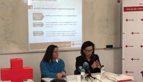 Presentació de l'estudi ahir a la seu de Creu Roja Lleida.