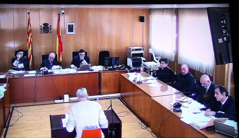 Declaració d'un testimoni ahir a l'Audiència de Tarragona.