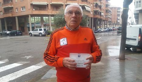 El tenista de Balaguer Antonio Carreño.