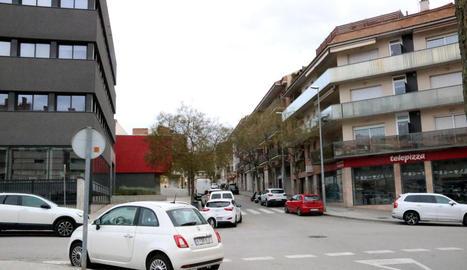 El carrer de Manresa on va succeir l'agressió.