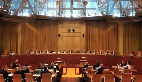 Sala del Tribunal de Justícia de la Unió Europea (TJUE).