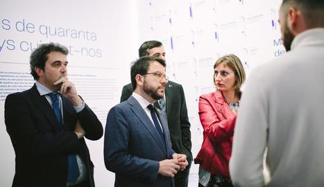 L'acte d'inauguració de l'exposició 'Universal. La Salut a Catalunya' al Palau Robert de Barcelona.