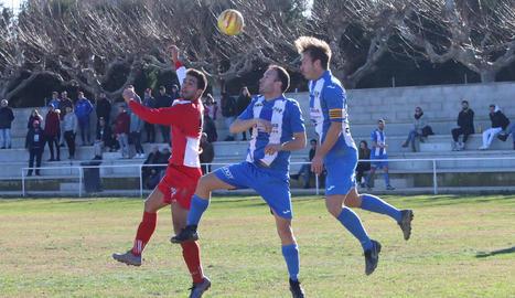 El Torregrossa va guanyar un partit molt disputat contra un lluitador Oliana.