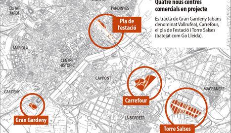 Lleida continua a la cua de grans superfícies a l'encallar les projectades