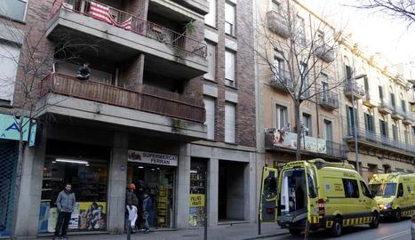 La ronda Ferran Puig, on viu la mare que ha trucat al 112 dient que ha ofegat la filla.