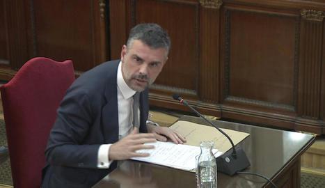 Santi Vila, al Tribunal Suprem el febrer del 2019.