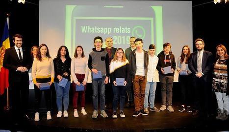 Els alumnes guanyadors de l'edició anterior del concurs.