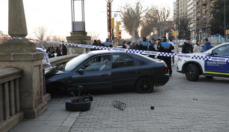 Estat en el qual va quedar el vehicle després de l'accident, que es va produir cap a les 17.00 hores.