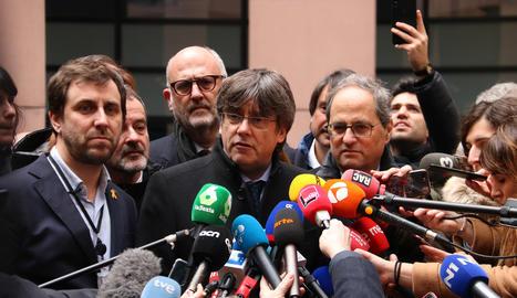 Carles Puigdemont i Toni Comín han entrat a la seu del Parlament europeu a Estrasburg ja com a eurodiputats de ple dret.