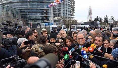 Torra demana a Sánchez que faci efectiu el diàleg i la desjudicialització política