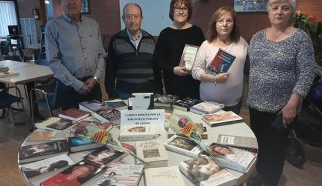 La Llar de Jubilats Sant Antolí de Rosselló, una de les entitats que van rebre llibres de la Biblioteca.