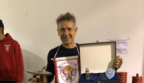 Manuel Craviotto, durant l'homenatge del Sícoris Club.