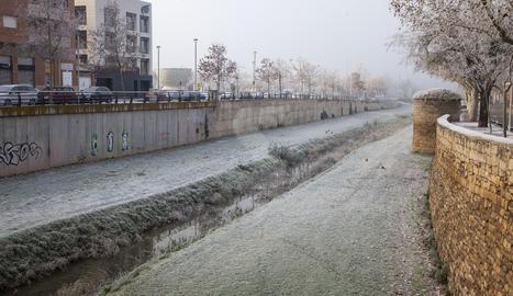 Imatge de Tàrrega, on ahir es van arribar a registrar 4,9 graus sota zero de mínima