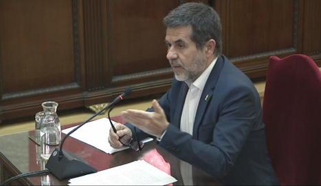 Jordi Sànchez durant el judici al Tribunal Suprem.