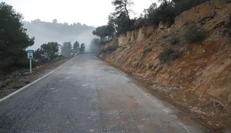 La carretera va quedar totalment neta a primera hora de la tarda.