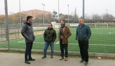 Els edils Toni Postius i Sergio González van visitar ahir les millores.