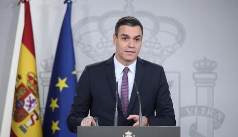 El president del Govern, Pedro Sánchez va anunciar ahir l'increment de les pensions.