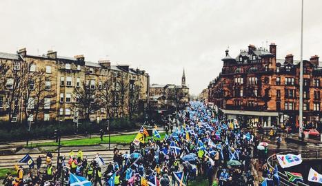 Una manifestació proreferèndum celebrada la setmana passada.