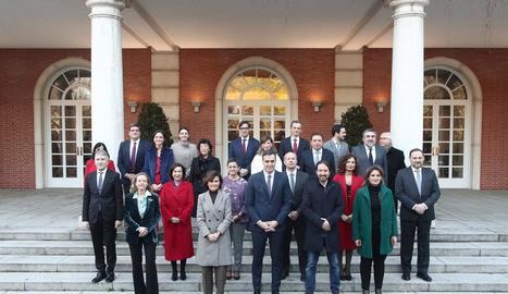 Foto de família del Consell de Ministres a La Moncloa.