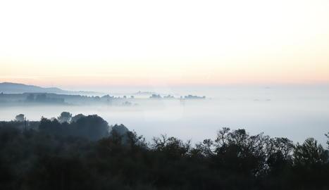 Imatge de la boira alta a les comarques de Lleida