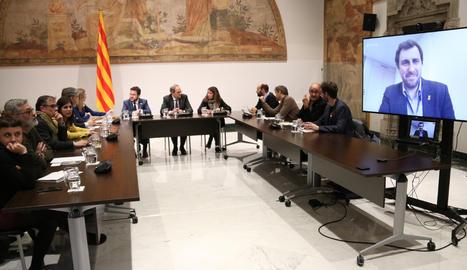 La reunió d'aquest dimecres al Palau de la Generalitat.