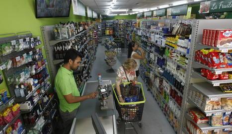 Imatge d'arxiu d'un supermercat a Lleida.