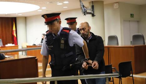 Jordi Lanuza, després de ser declarat culpable per un jurat popular.