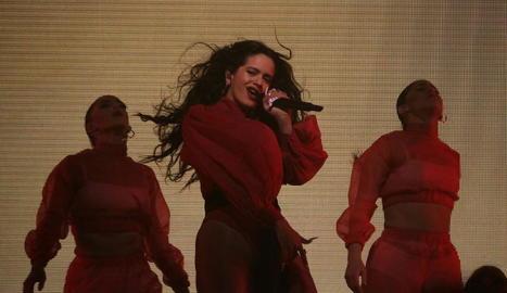 Rosalía, en l'actuació a Barcelona al desembre.