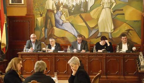 Una imatge del ple de la Diputació de Lleida d'aquest dijous, 16 de gener.