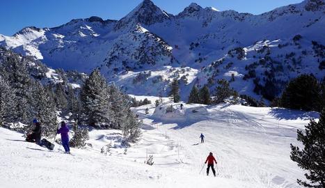 Imatge d'esquiadors a Baqueira el cap de setmana passat.