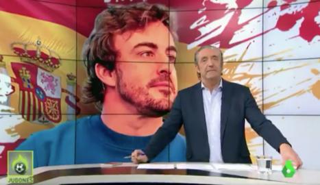 Pedrerol amb el seu adorat Alonso.