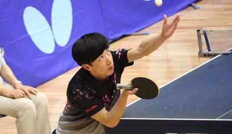 El japonès Ryu Taguchi, en acció.