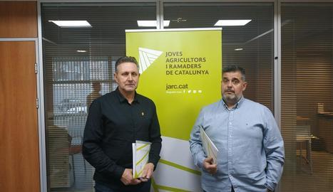 Jaume Bernis i Jordi Siscart, del sector porcí de JARC.