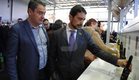 El conseller Damià Calvet visitant la fira de Les Borges