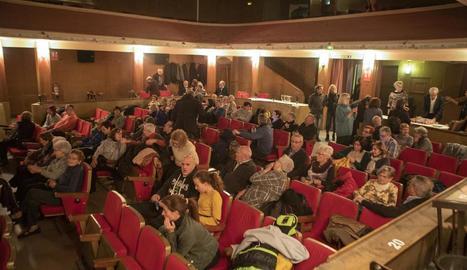 Públic al Cine Flotats de Tornabous la nit de divendres passat, en la festa del 75 aniversari.