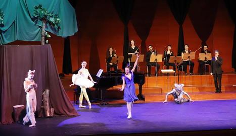 Ballet de Barcelona i LleidArt Ensemble, ahir a l'Auditori.