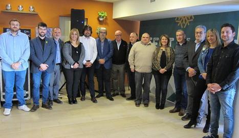 Imatge de la Festa de la Neu, que es va celebrar ahir a la plaça Corsini de Tarragona.
