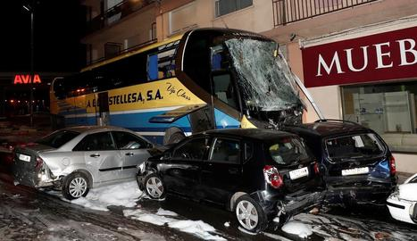 Imatge de l'accident de divendres a Estella-Lizarra, a Navarra.