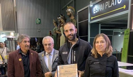 Imatge de l'entrega del premi a Mas del Clos.