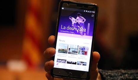 La nova aplicació cultural 'Vibra', en un telèfon mòbil.
