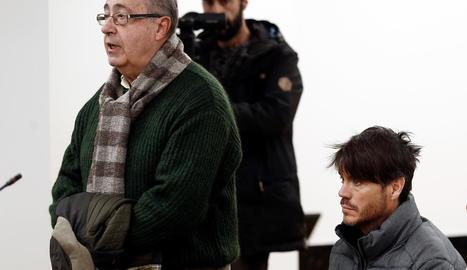Ángel Vizcay, exgerent de l'Osasuna, declara durant el judici.