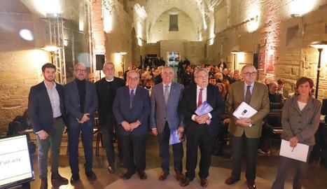 El periodista Lluís Foix va moderar ahir un debat de l'entitat.