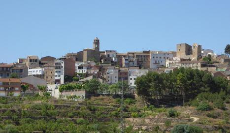 Vista panoràmica de l'Albagés, que ha patit talls aquests dies.